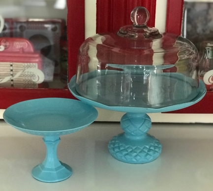 cake stand and plate